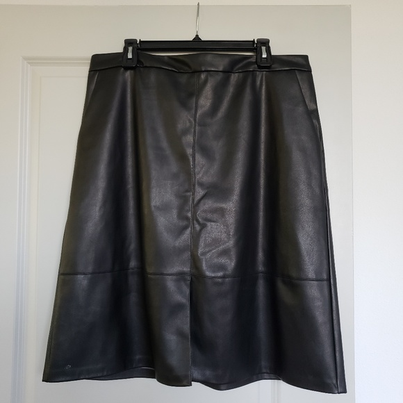 a new day Dresses & Skirts - Target Faux Leather Skirt WITH POCKETS!!!